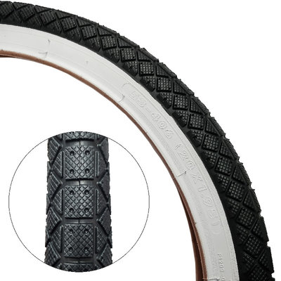 "Damco DAMCO TIRE 20 X 1.95"" BLACK/WHITE WALL"