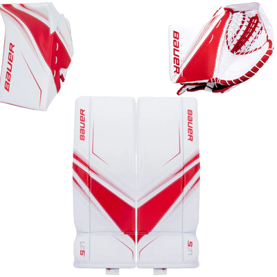 Bauer BAUER SUPREME S27 WHT/RED SET JR (MEDIUM) (REG)