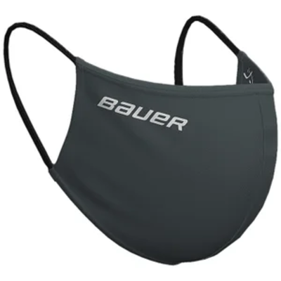 Bauer BAUER WASHABLE REVERSIBLE PPE FACE MASK (ONE SIZE) GREY/FACEOFF