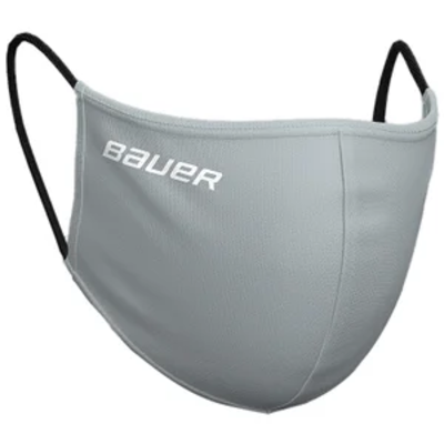 Bauer BAUER WASHABLE REVERSIBLE PPE FACE MASK (ONE SIZE) GREY/CAMO