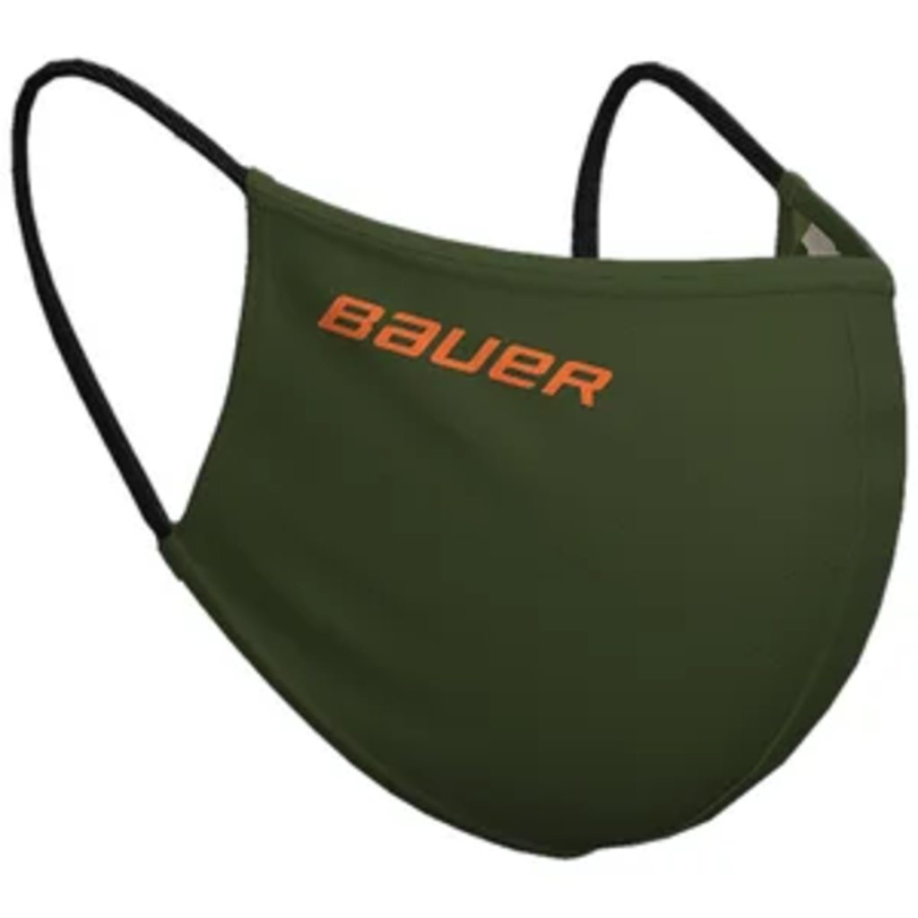 Bauer BAUER WASHABLE REVERSIBLE PPE FACE MASK (ONE SIZE) GREEN/CAMO