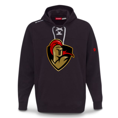 CCM CUSTOM CRUSADERS CCM TEAM FLEECE HOODY BLACK F7512 SR