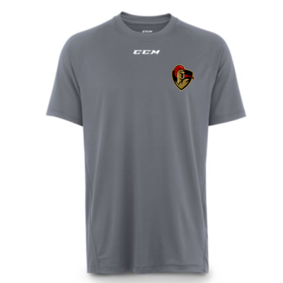 CCM CUSTOM CRUSADERS CCM TECH TOP SHIRT GREY T6683 YTH