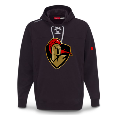 CCM CUSTOM CRUSADERS CCM TEAM FLEECE HOODY BLACK F7512 YTH