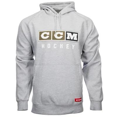 CCM CCM CLASSIC LOGO HOODIE GREY SR F3819