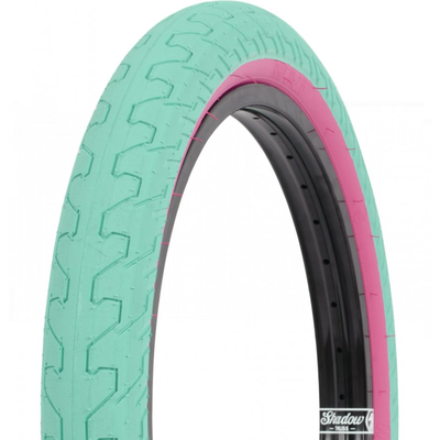 """Rant RANT SQUAD TIRE 20 X 2.35"""" TEAL/PINK WALL"""