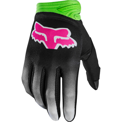 Fox FOX DIRTPAW GLOVE YOUTH BLACK/GREEN/PINK