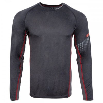 Bauer BAUER ESSENTIAL LS SHIRT GREY SR S19