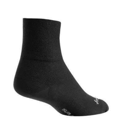 """Sock Guy SOCK GUY 3"""" BLACK SOCKS S/M"""
