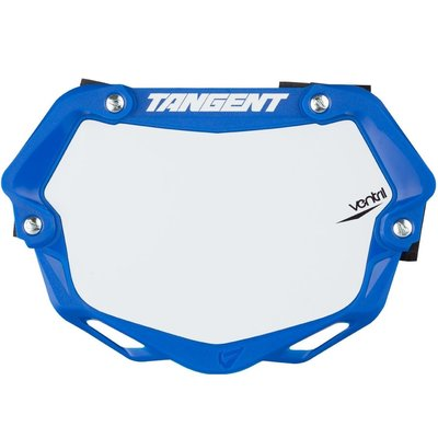Tangent TANGENT MINI VENTRIL 3D NUMBER PLATE BLUE/WHITE