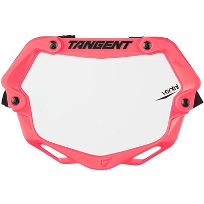 Tangent TANGENT MINI VENTRIL 3D NUMBER PLATE NEON PINK/WHITE