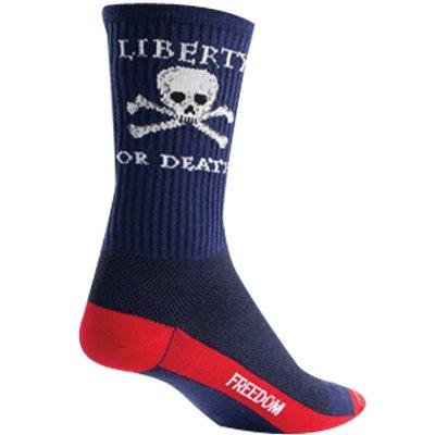 "Sock Guy SOCK GUY 6"" CREW LIBERTY OR DEATH L/XL"