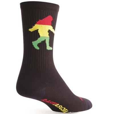 "Sock Guy SOCK GUY 6"" CREW RASTA SASQUATCH L/XL"