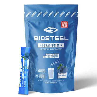 Biosteel BIOSTEEL HYDRATION MIX 16CT BAG BLUE RASPBERRY