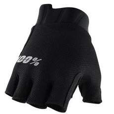100% 100% EXCEEDA HALF FINGER GLOVE BLACK
