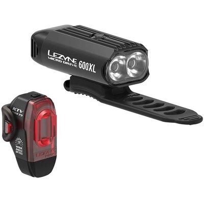 LEZYNE MICRO DRIVE XL 600L FRONT LIGHT KTX 10L REAR LIGHT SET
