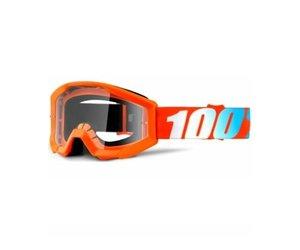 100% 100% Strata Youth Goggle Orange/clear