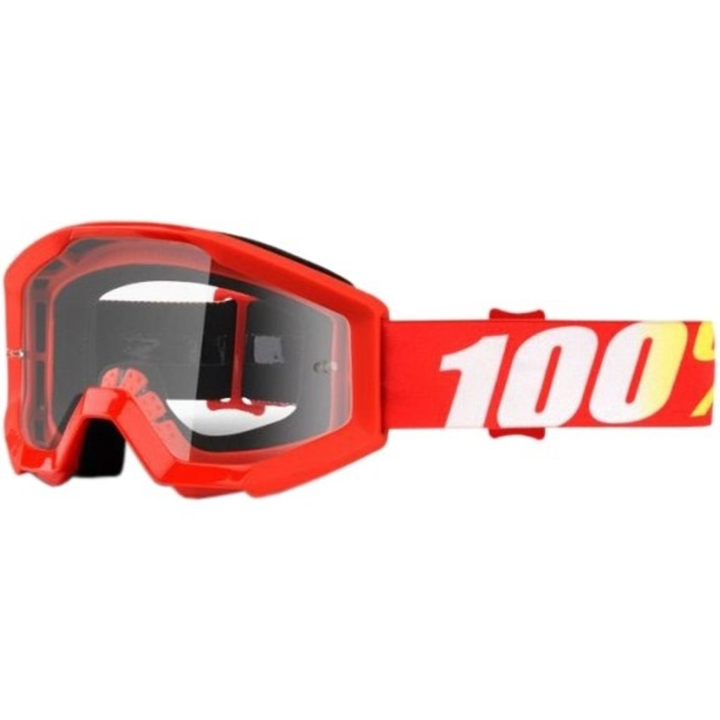 100% 100% STRATA YOUTH GOGGLE RED/CLEAR