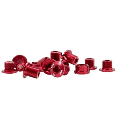 Box BOX ONE 7075 ALLOY CHAINRING BOLTS 15 PCS RED