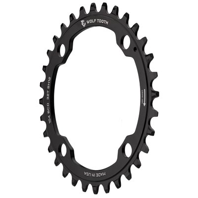 WOLF TOOTH WOLF TOOTH CHAINRING 4 BOLT 104BCD 32T BLACK