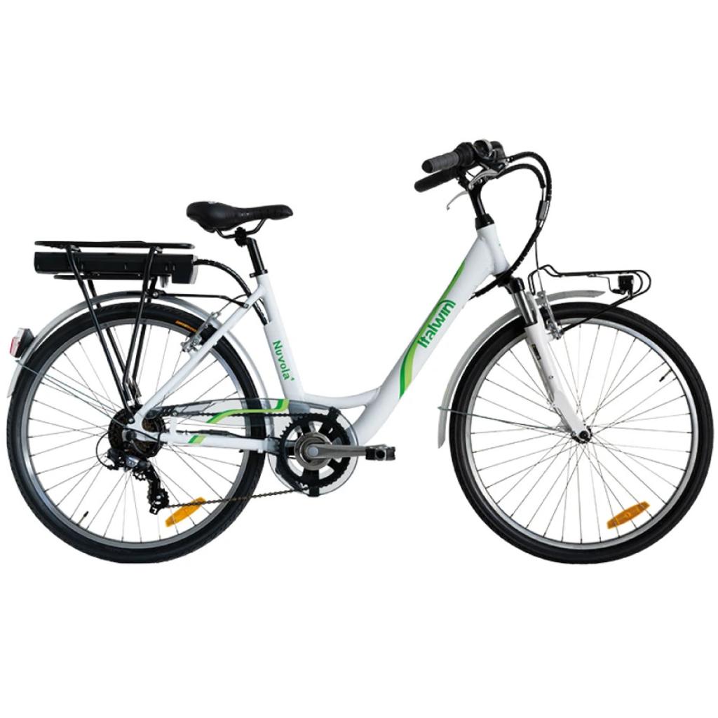 "Bici 2021 ITALWIN NUVOLA 4 26"" E-BIKE WHITE"