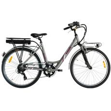 """Bici 2021 ITALWIN NUVOLA 4 26"""" E-BIKE SILVER"""