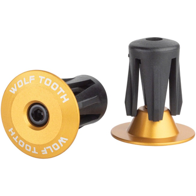 WOLF TOOTH WOLF TOOTH ALLOY BAR END PLUGS PAIR GOLD