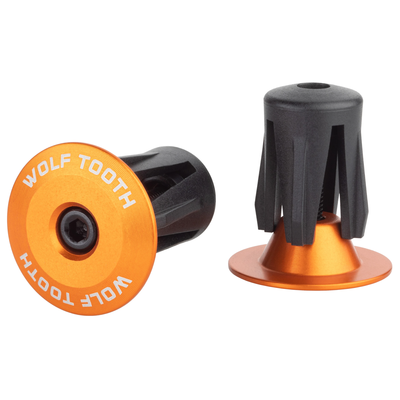WOLF TOOTH WOLF TOOTH ALLOY BAR END PLUGS PAIR ORANGE
