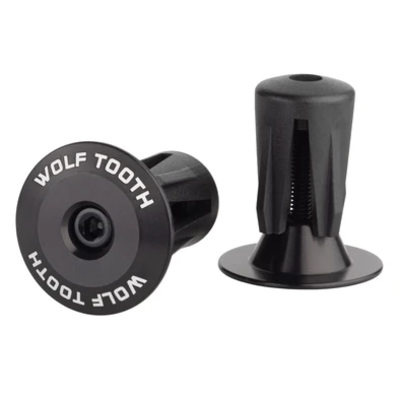 WOLF TOOTH WOLF TOOTH ALLOY BAR END PLUGS PAIR BLACK