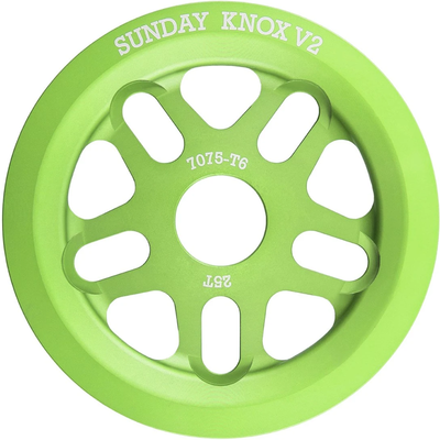Sunday SUNDAY KNOX V2 SPROCKET 25T ELECTRO GREEN