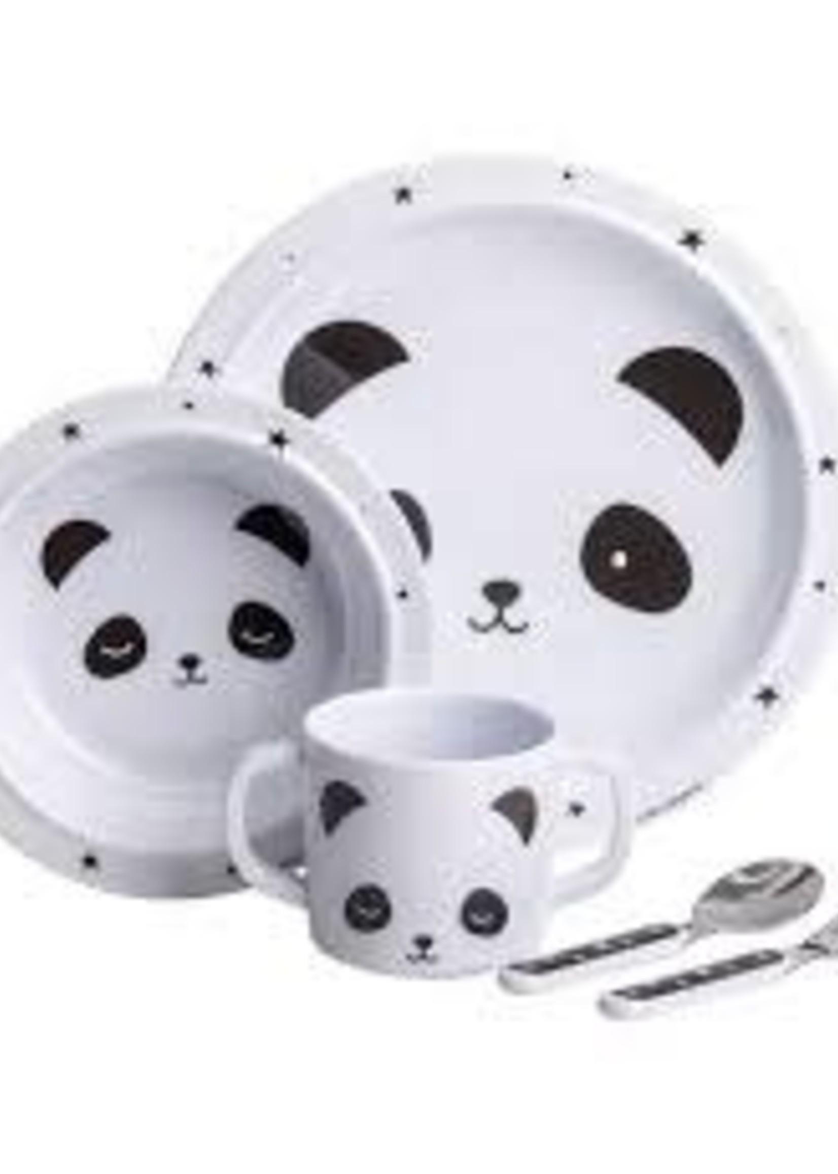 A Little Lovely Co. Little Lovely  Panda dInner Set