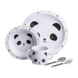 A Little Lovely Co. Little Lovely  Panda Dinnerware Set