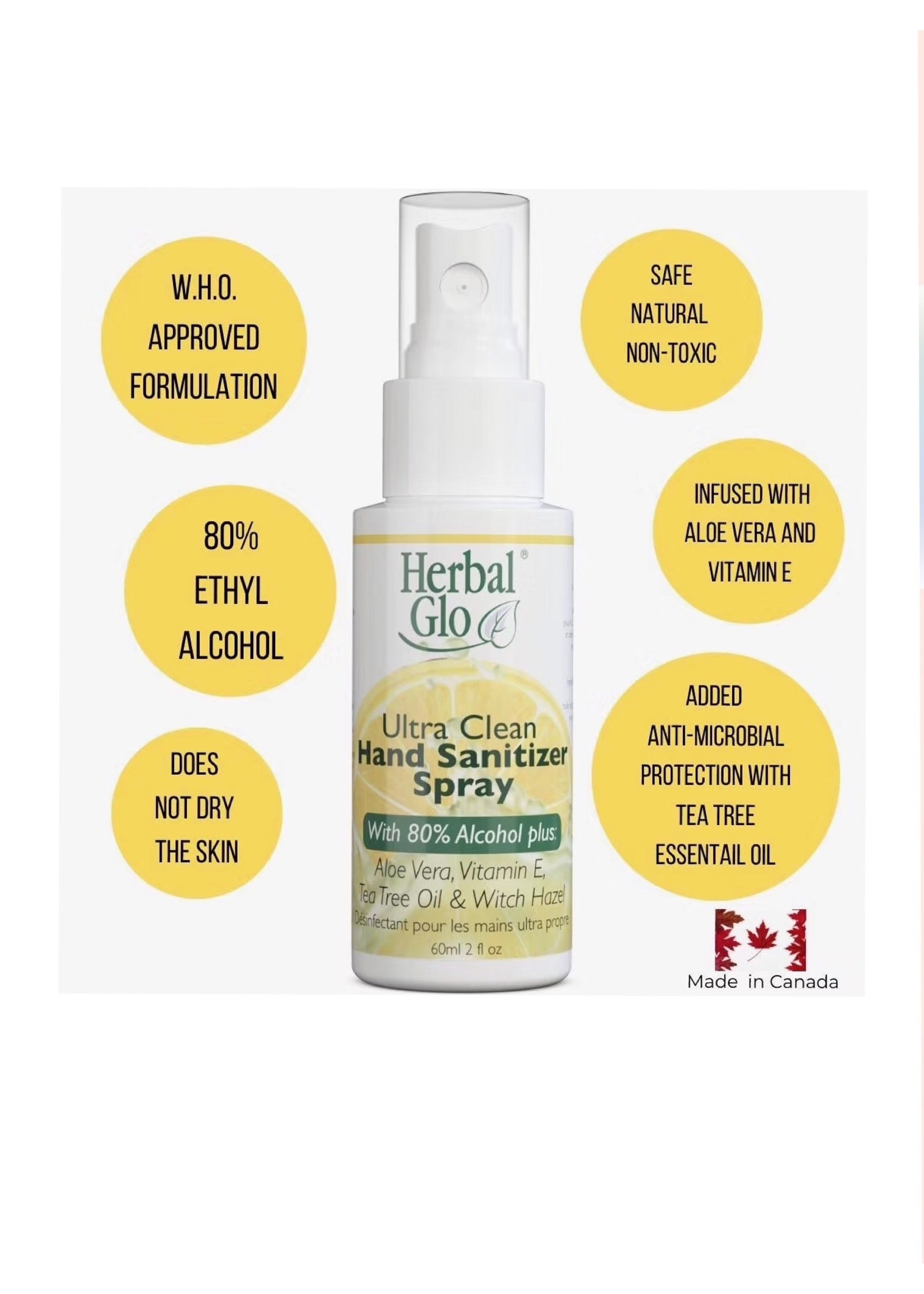 herbal glo Herbal Glo  hand sanitizer (80% alcohol)