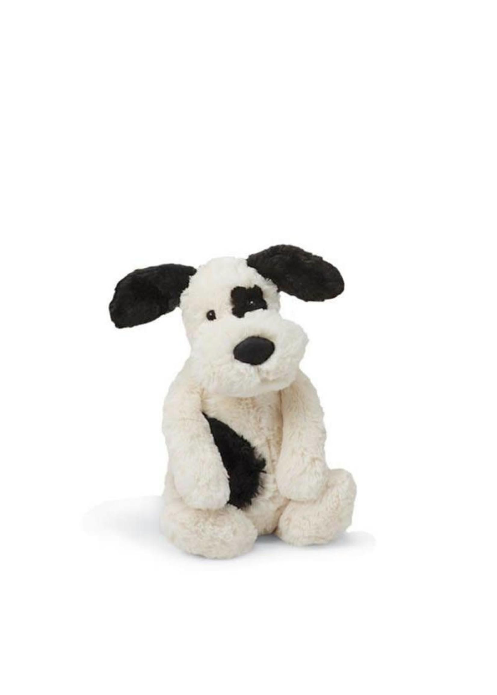 Jellycat JC Small Bashful Black Cream Puppy