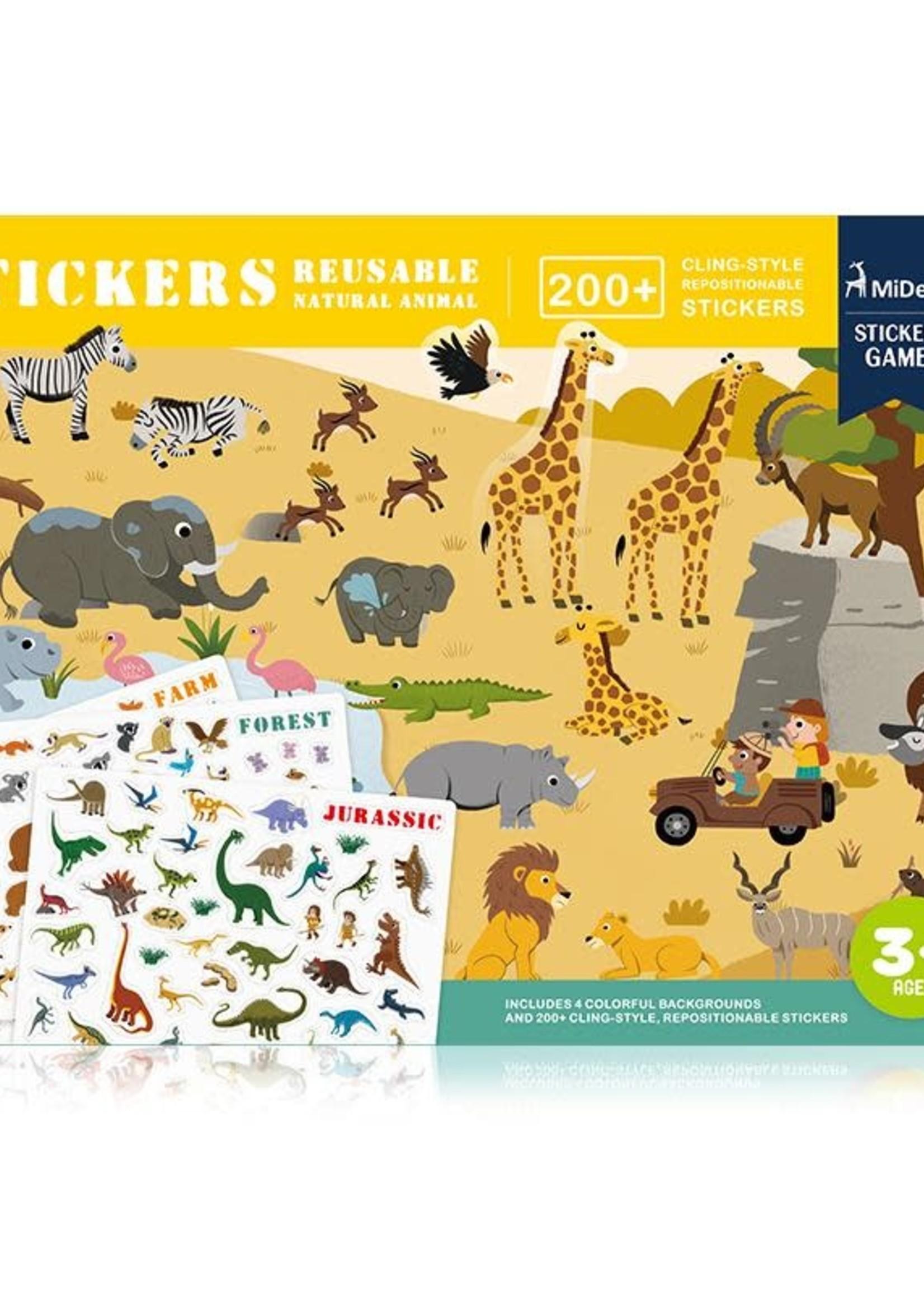 Mideer Mideer Reusable Sticker Activity Set (Animals)