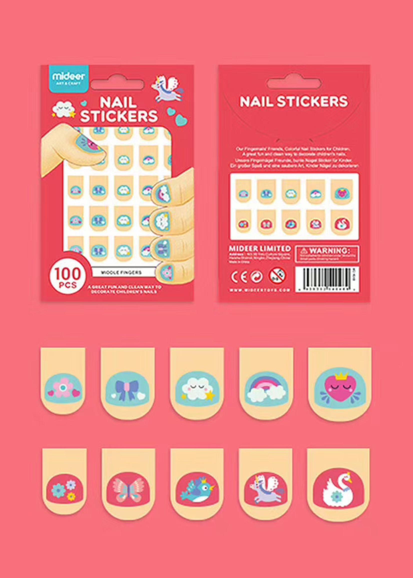 Mideer Mideer Nail Sticker Pink