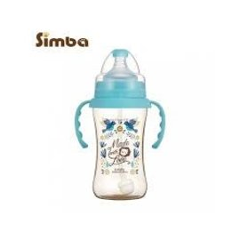 Simba Simba 360ml Baby Bottle/Straw Sippy Cup (Blue)