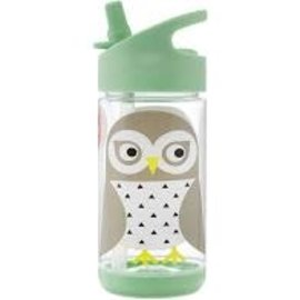 3 sprouts 3sprouts straw Water Bottle (Owl)