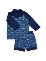 jan & jul Jan & Jul Swim Shirt & Short Set (Shark)