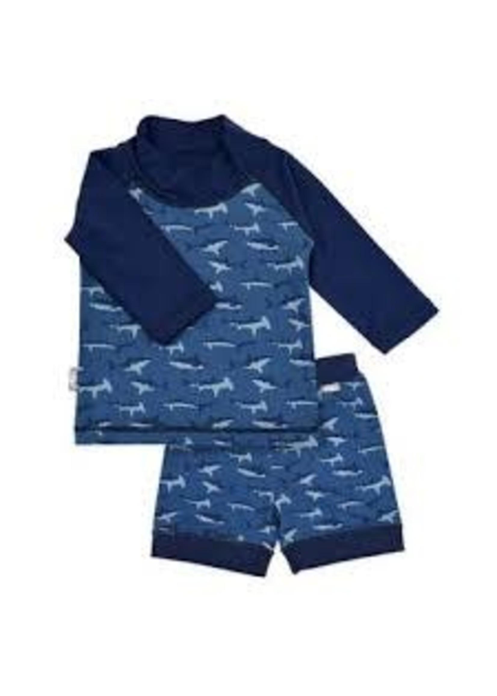 jan & jul Swim Shirt & Short Set (Shark)