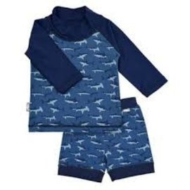 jan & jul Jan & Jul Swim Shirt & Short Set (Shark)