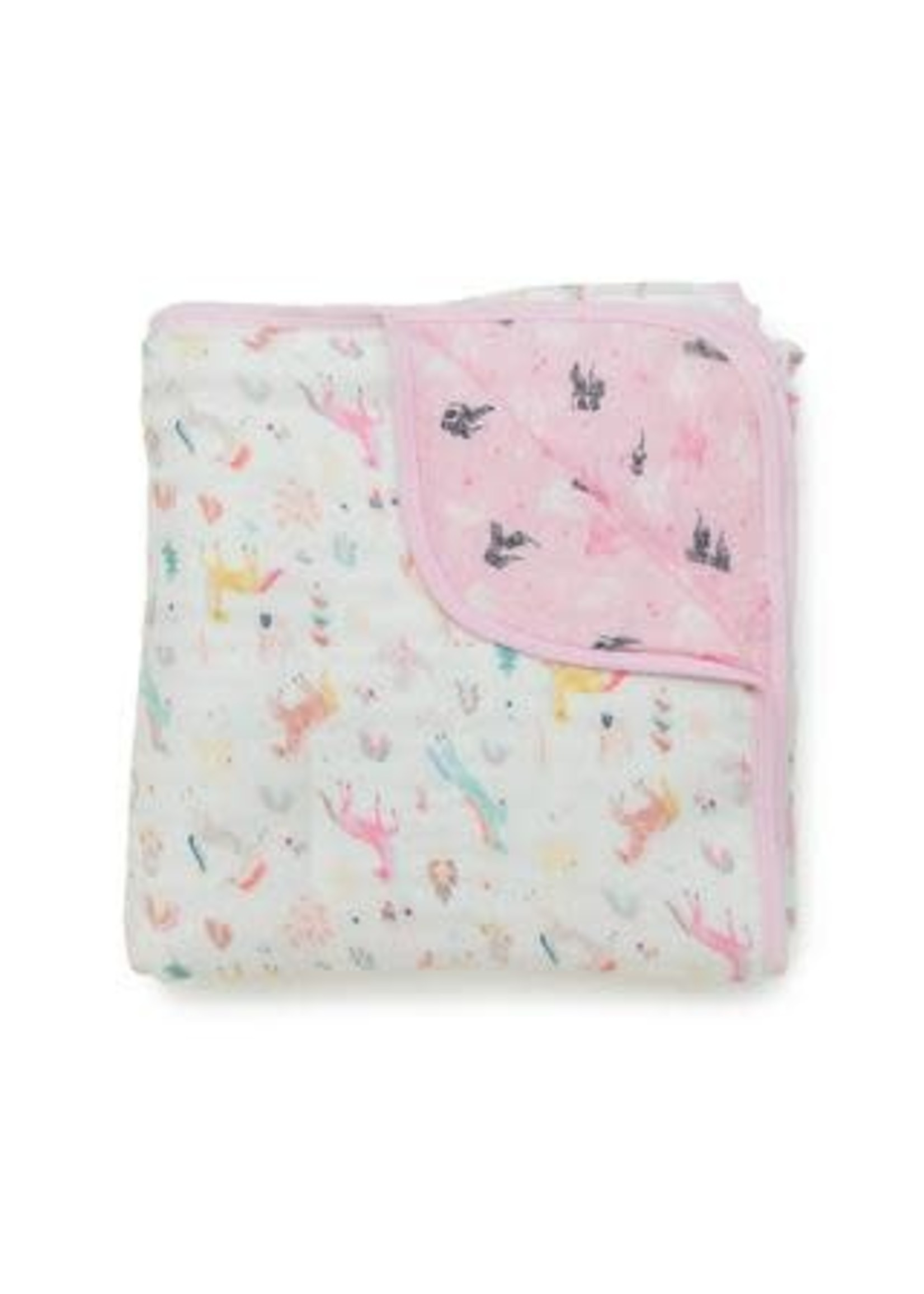 Loulou Lollipop Muslin Blanket (Unicorn Dream)
