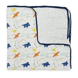 Loulou Lollipop Loulou Lollipop Muslin Blanket (Dinosaurs)
