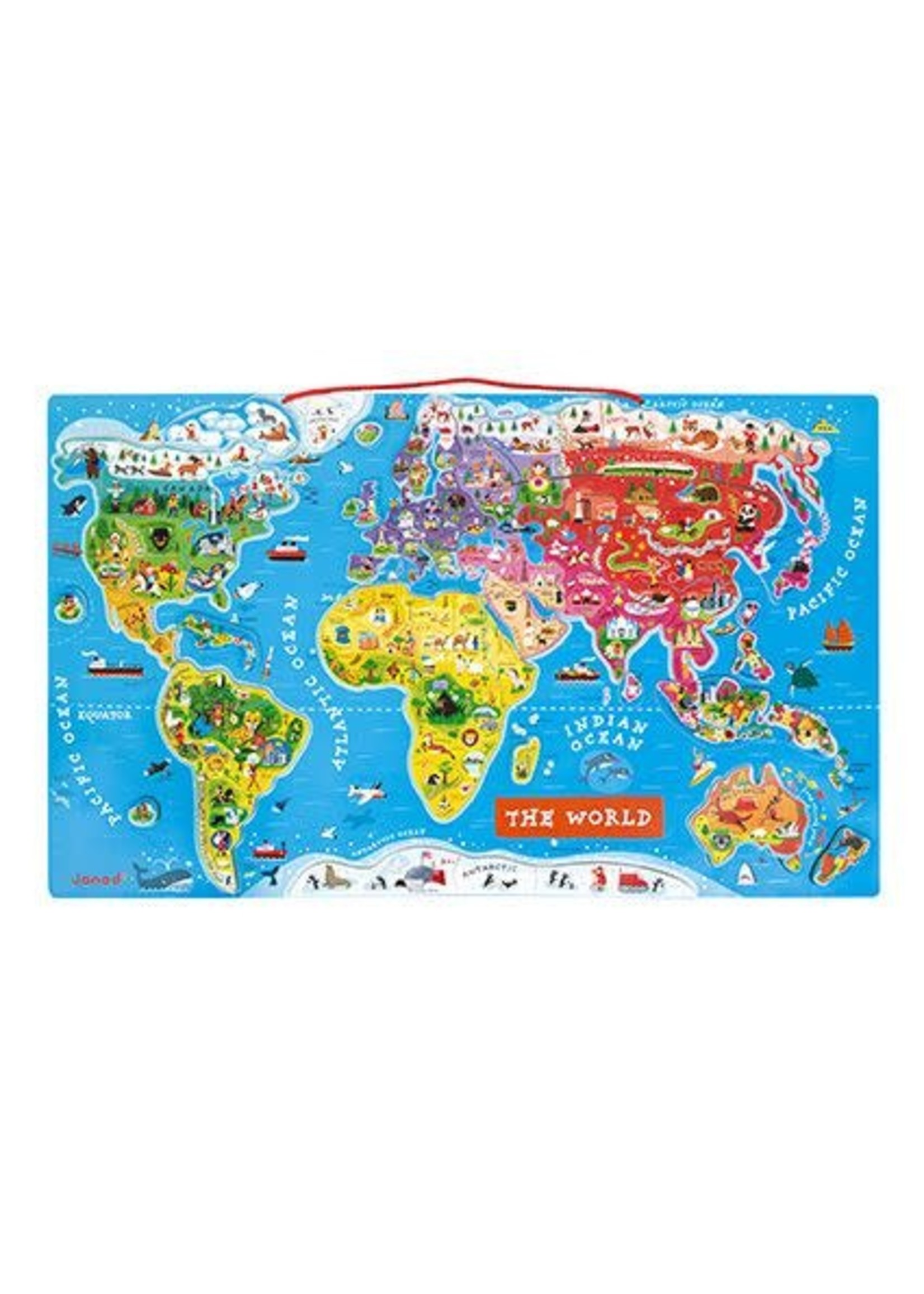 Janod Magnetic World Puzzle Map