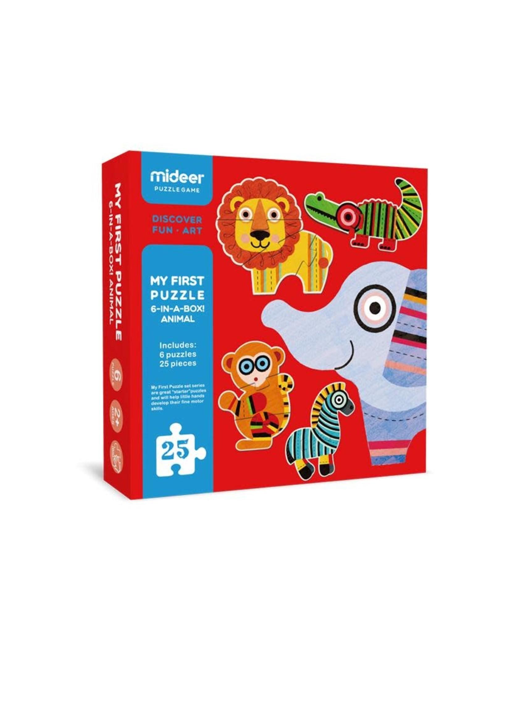 Mideer Mideer First Puzzle 6pk (Animals)