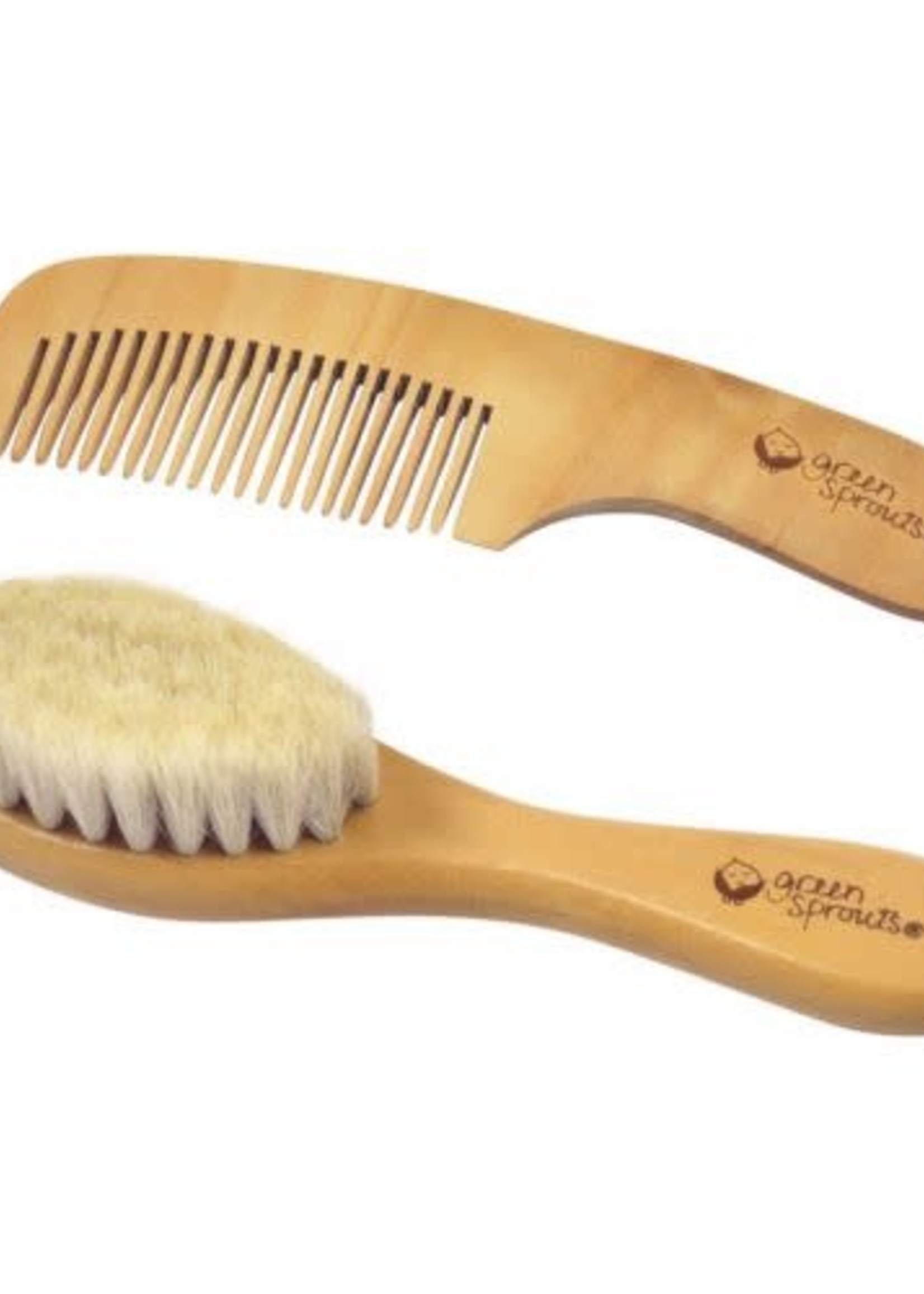 Greensprouts green sprout brush/comb set