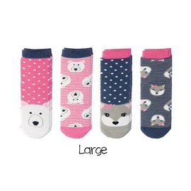Flapjack Kids Baby Socks 0-12m (Polar Bear/Arctic Fox)