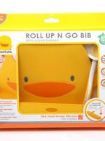 PiyoPiyo PiyoPiyo Roll Up N Go Bib & Spoon