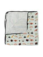 Loulou Lollipop Loulou Lollipop Muslin Blanket (Sushi)