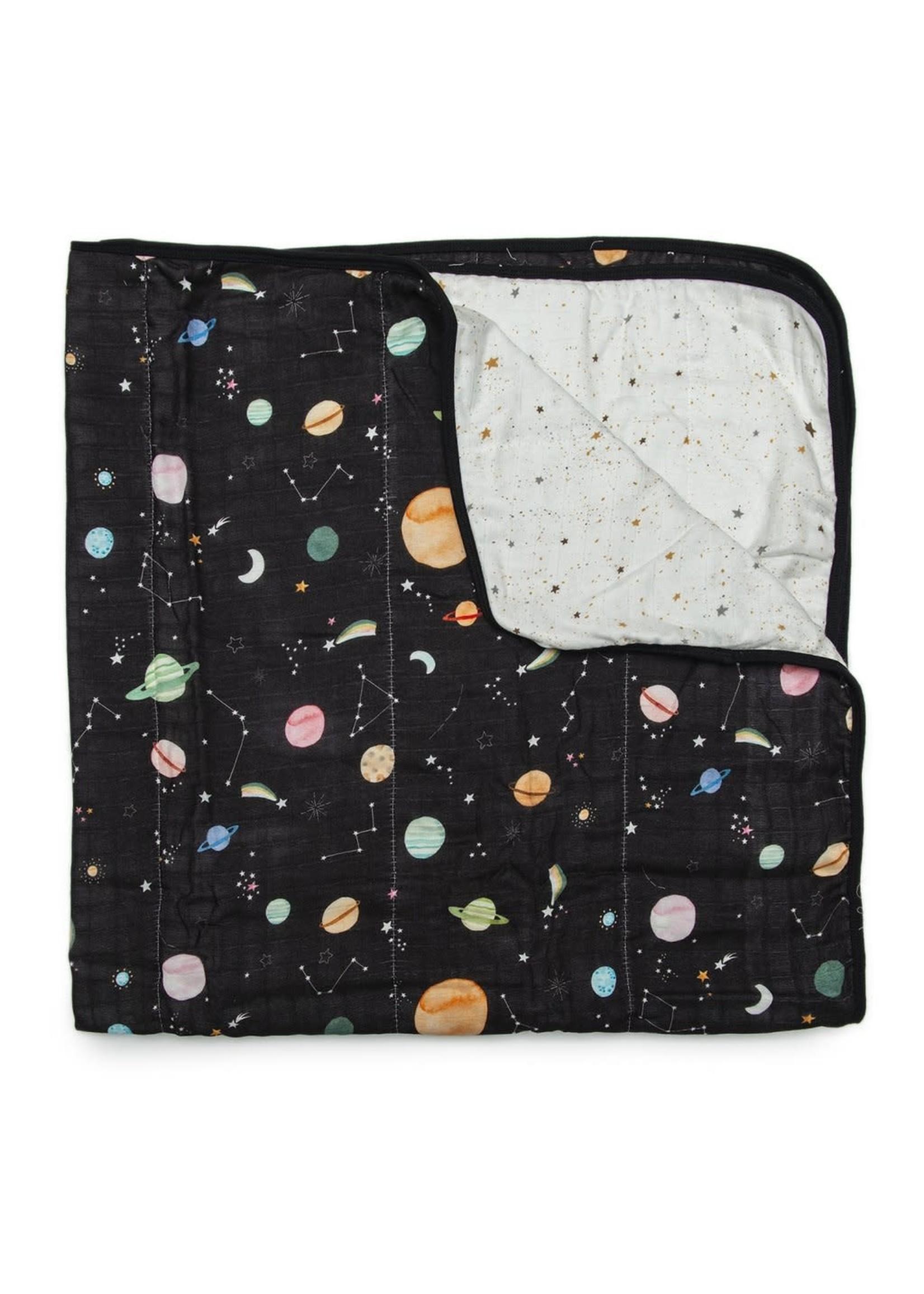 Loulou Lollipop Muslin Blanket (Planets)